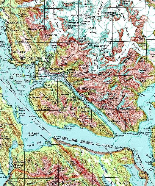 Juneau Topographic Map